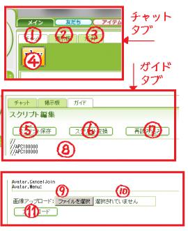 編集室タブ拡大図